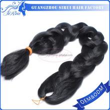 Yaki straight heat resistant synthetic xpression curly wave, bulk hair for braiding, keratin hair extension in dubai