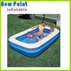 Mini blue cartoon inflatable round swimming pool toy for fun,inflatable kids pool,outdoor pool