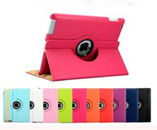 Factory price PU leather tablet pc holder cover rotatable swivel tablet case for ipad mini 2