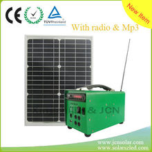 New !!! solar lighting system with radio, music player function for expending your markets
