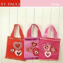 factory direct offer valentine's day decoration wedding decoration felt shopping bag