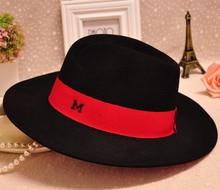 de alta calidad aplastables de invierno de lana de sombrero de fieltro para las mujeres