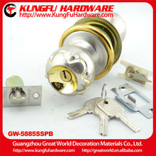 GW5885SSPB High Quality Zinc Alloy Ball Door Lock door lock with handle