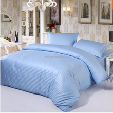 blue dobby egyptian cotton bedding hotel life fitted sheet set
