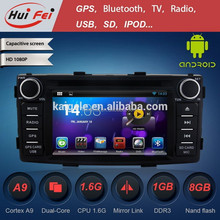 Newest Product Android 4.2.2 OS Navigation OEM For Toyota Hilux2012 Support 3G WIFI BT OBD DVR