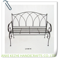 street decorative backrest metal bench