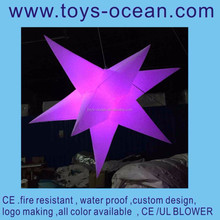 inflatable LED shine star/inflatable decoration star/illuminated decoration star