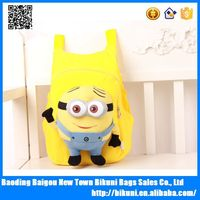 Best selling cute child minions bag kids backpack for school