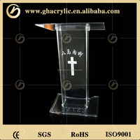 New Arrival wholesale custom podium clear acrylic church pulpit