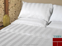 100% natural pure cotton fabric bed sheet set for hotel