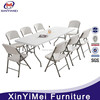 White Wedding Plastic folding table and chair for events