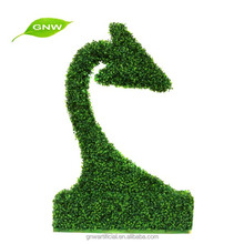 GNW BOX1027 Artificial topiary animal plants with boxwood mat for home garden landscaping decorations