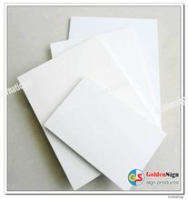 GS white pvc forex board for floor displays