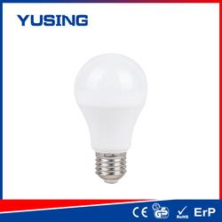 Cost-effective Plastic/ Plastic+Alu 110-240v 400-500lm e27 LED light bulb a60 plastic screw led lighting bulb