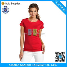 Favorate Compare 2014 Wholesale Women Tshirt Soft And Supple Fitness Short Sleeves