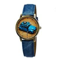 Retro bronze unisex dress watch with Japan movement fashion Compact car