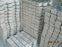 Granite Garden Pavers,Cheap Patio Paver Stones,G682 Cobble Stone with Net 10x10x3cm in Stock