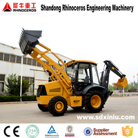 China New Cheap Farm Tractor Backhoe Loader,hydraulic wheel loader, 4wd backhoe loader price