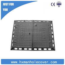 Factory price D400 cast iron well cover OEM service, cast iron manhole cover
