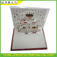 Fresh Painted Sympathy 3d laser cutting greeting card