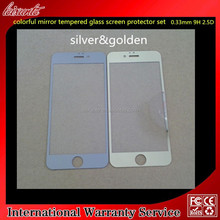 Golden Mirror effect Tempered Glass screen protector for Iphone6 front and back set