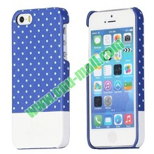 Double Color and Dot Pattern Protective Back Hard Cases Accept Small Mix Order for iPhone 5