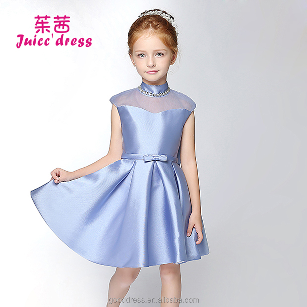 Girls party dresses satin dress for winter baby frock designs fancy