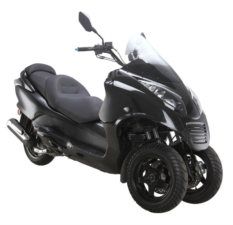 Three wheel eec kaitong gas scooter 250cc motorcycle id for Motor scooter 3 wheels