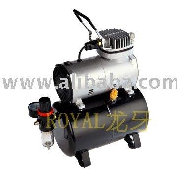 Aceite de envío Mini compresor del aerógrafo con tanque
