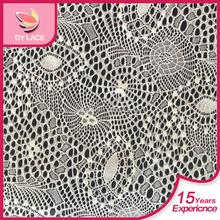 2015 New Design 150cm jacquard elastic nylon spandex high quality guipure lace fabric for underwear