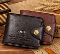 2015 Men's Genuine Cow Leather Wallet Fashion Black & Coffee Purse Casual Hasp Purse Wallets for Men,Business Gifts