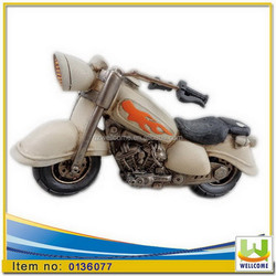 Polyresin Home Decoration Money bank children's day gift mini racing motorcycle