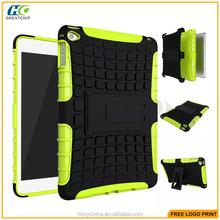 Rugged PC+Silicone Combo Case for iPad mini 4, For iPad mini 4 Silicone Case With Shockproof Robot Amor Cover Design