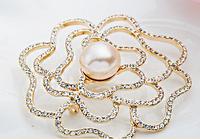 Design New Popular Pins Pearl Brooches Hijab Pins Muslim Hijab Scarf Pins Female Pashmina Brooches