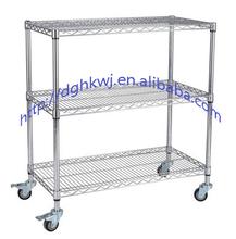 Mild steel workshop material supermarket cart anti-static trolley mute wire low carbon steel bearing flat cart