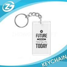 Bulk Whoesale Clear Acrylic Photo Keychain Factory