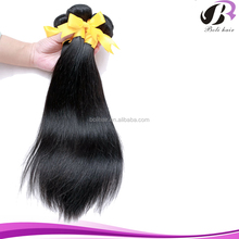 Best quality new arrival virgin russian hair extension unprocessed russian stright hair natural black
