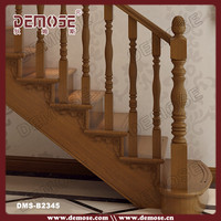 round wood stair railings/stairs banisters