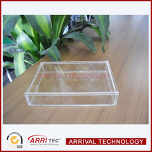 2015 custom clear acrylic PMMA movable cover small storage display trinket case card acrylic holder