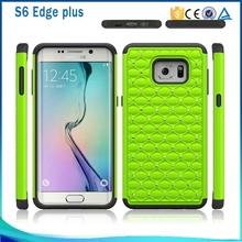 facotry price bling back case for samsung galaxy s6 edge plus, for samsung galaxy s6 edge plus pc + silicone case cover