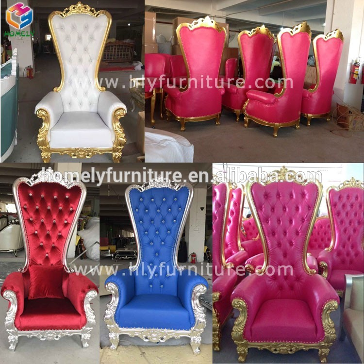antique classic wedding furniture gold throne chairs HY-K183