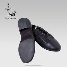 men's black super leather Jazz shoes