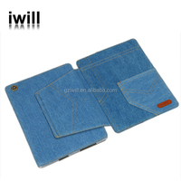 Special design Jeans leather case cover for ipad2/ipad3 /ipad4