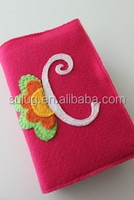Customized Colorful Felt book cover for notebook made in China