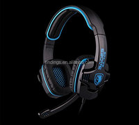 LIHAO Sades SA-708 Stereo Gaming Headset with Microphone + Retail Package(Blue)