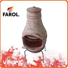 Chinese clay chiminea outdoor terracotta bbq stove