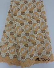 Stock Voile tecido de renda africano atacado algodão Voile suíço laço Material 2016 nova Exquisite rendas coreano com pedra