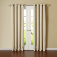Best Home Fashion Thermal Insulated Blackout Curtains - Antique Bronze Grommet Top - Beige CL1000