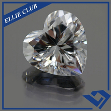 white gems cubic zircon heart shape cz in loose rough price