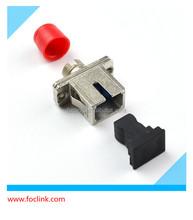 SC to ST simplex core optical fiber adaptor with dust cap